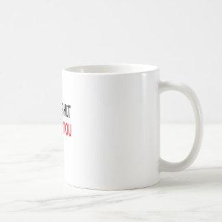 Merda santamente eu te amo (1) caneca de café