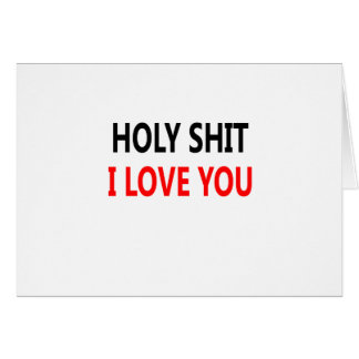 Merda santamente eu te amo (1) cartão