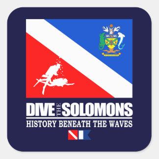 Mergulha o Solomons Adesivo Quadrado