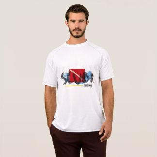 Mergulhador do masculino de Camiseta Branca