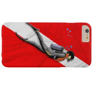 Mergulhador e bandeira do mergulho capa barely there para iPhone 6 plus
