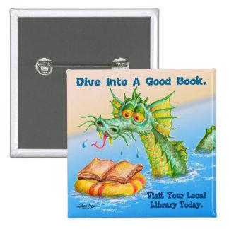 Mergulhe em um bom livro botons