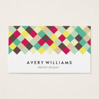 Mergulhe na cor cartão de visitas