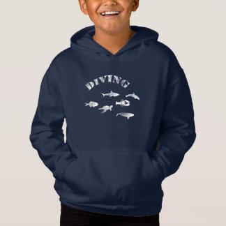 Mergulho autónomo, peixes nadadores. Vida marinha,