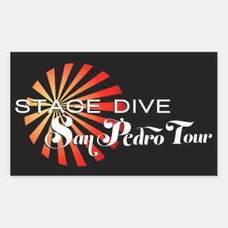 Mergulho do palco - excursão de San Pedro Adesivo Retangular