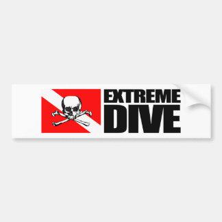 Mergulho extremo (crânio) Bumpersticker Adesivo Para Carro