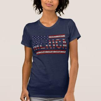 MERICA - Bandeira americana dos EUA do calão do T-shirts