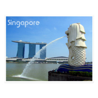 merlion do casino de singapore cartão postal