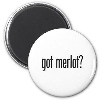 merlot obtido ímã redondo 5.08cm