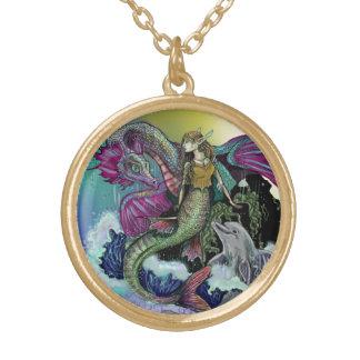 Mermaid~necklace Colar Banhado A Ouro