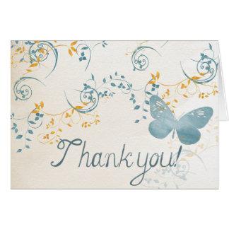 """MerriGlee """"obrigado você!"""" Cartão"""