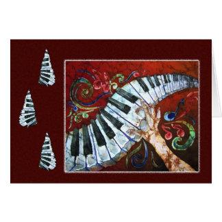Merriment musical - cartão do feriado do piano