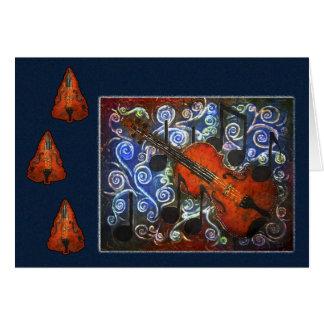 Merriment musical - cartão do feriado do violino