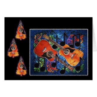 Merriment musical - cartões de natal da guitarra