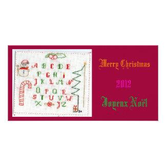 Merry Natal Cartão Com Foto Personalizado