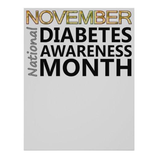 Mês da consciência do diabetes de novembro dos dia panfleto personalizado