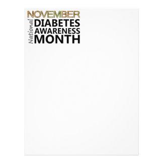 Mês da consciência do diabetes de novembro dos dia panfleto