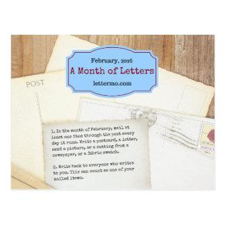 Mês do cartão das letras