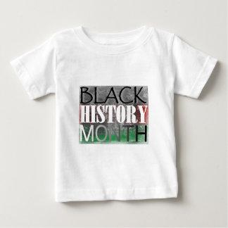 Mês preto da história (bandeira africana) camiseta para bebê