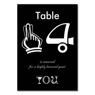 Mesa 14 reservado para um convidado altamente