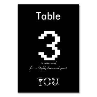 Mesa 3 reservado para um convidado altamente