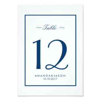 MESA branca azul náutica moderna do casamento da Convite 12.7 X 17.78cm