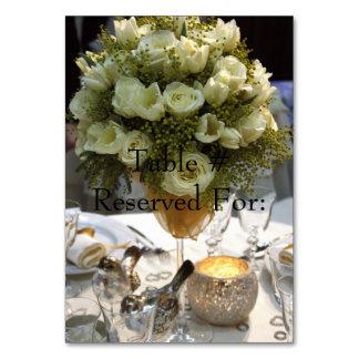 Mesa # cartões elegantes da recepção de casamento