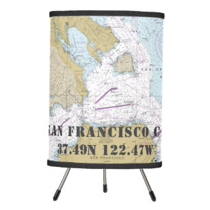 Mesa da carta de San Francisco CA da latitude & da