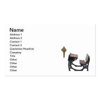 Mesa da escola paroquial cartão de visita