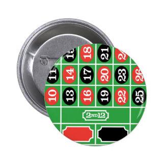 Mesa da roleta - jogo do casino a ganhar pins