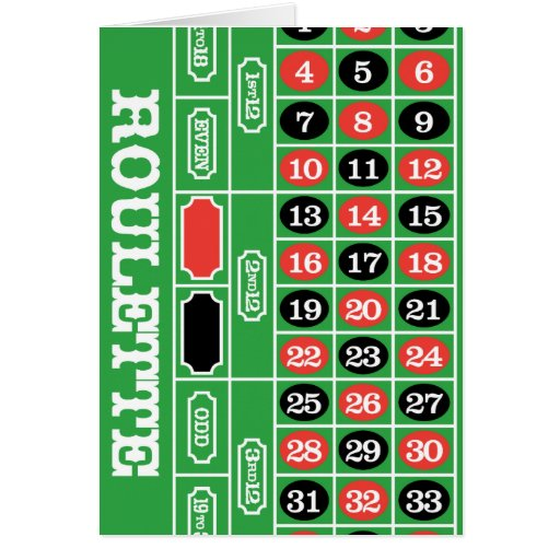 Mesa da roleta - jogo do casino a ganhar cartao