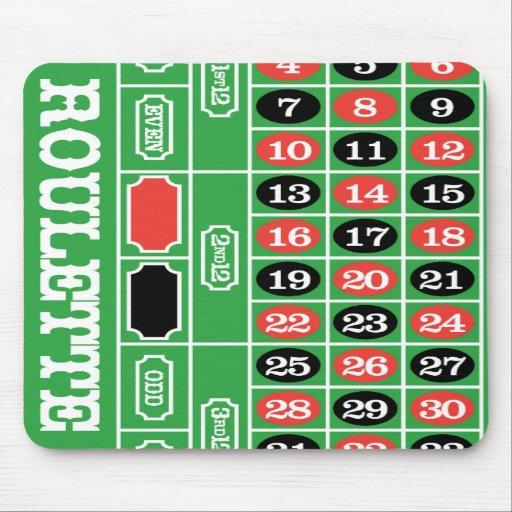 Mesa da roleta - jogo do casino a ganhar mousepad