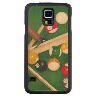 Mesa de bilhar Lifelike com bolas e giz Capa Slim De Bordo Para Galaxy S5