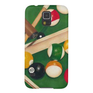 Mesa de bilhar Lifelike com bolas e giz Capas Par Galaxy S5