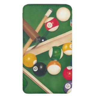 Mesa de bilhar Lifelike com bolas e giz Bolsa Para Celular Galaxy S5