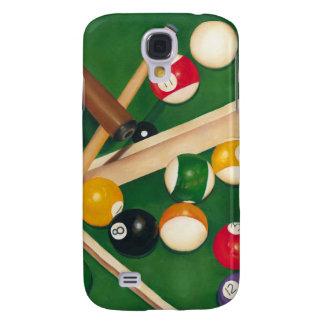 Mesa de bilhar Lifelike com bolas e giz Galaxy S4 Covers