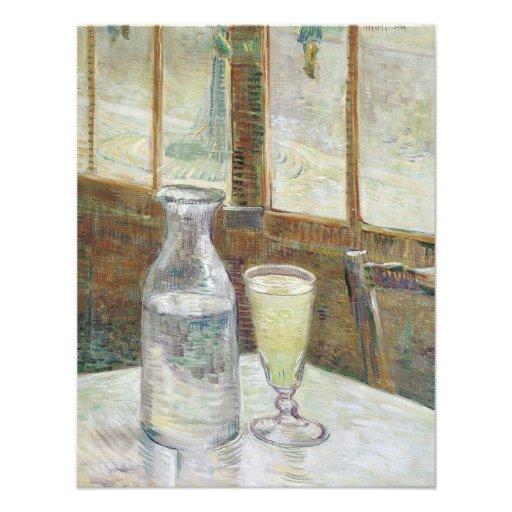 Mesa de Café com convite do absinth