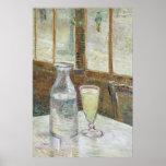 Mesa de Café com poster do absinth Pôster