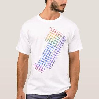 Mesa de elementos periódica - esboço vazio - camiseta