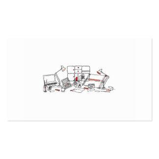 Mesa do design - preto no branco cartão de visita