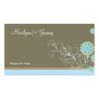 Mesa dos redemoinhos da flor da neve/cartão feitos modelo cartões de visita
