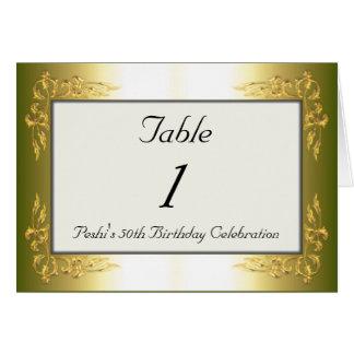 Mesa número 1 cartões