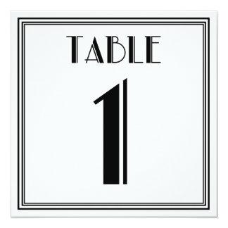 Mesa número 1 do art deco convite quadrado 13.35 x 13.35cm
