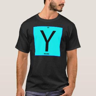 Mesa periódica da letra Y Camiseta