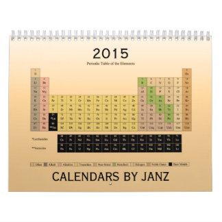 Mesa periódica do calendário dos elementos 2015