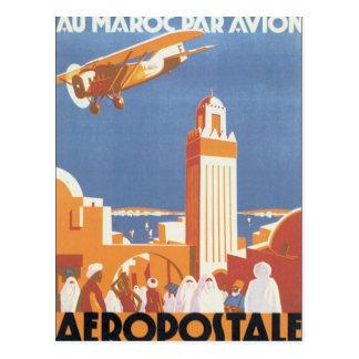 Mesquita de Marrocos Aeropostale do vintage Cartão Postal