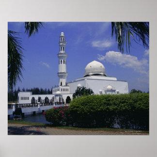 Mesquita e torre, Singapore Poster