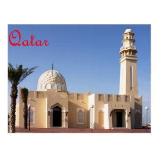 Mesquita no cartão de Qatar