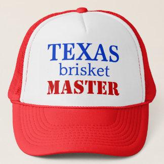 Mestre da carne do peito de Texas - boné de