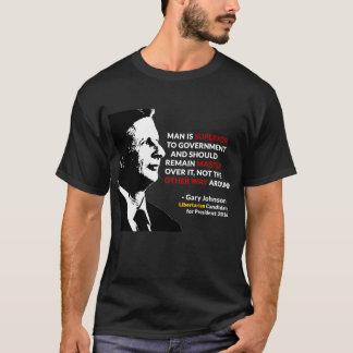Mestre de Gary Johnson da camiseta do governo